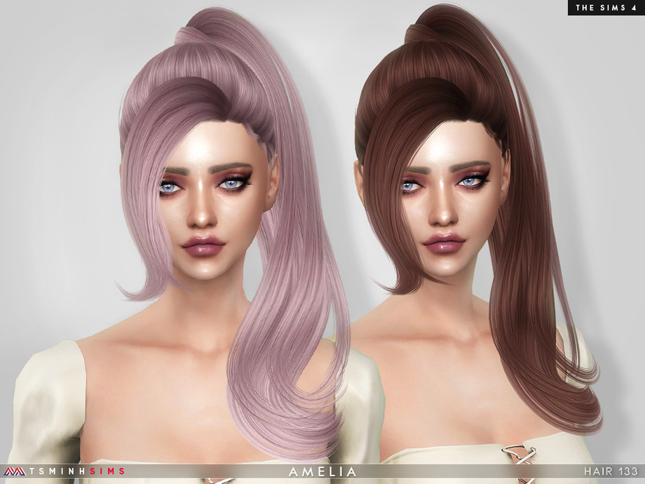 Amelia (Hair 133) by TsminhSims
