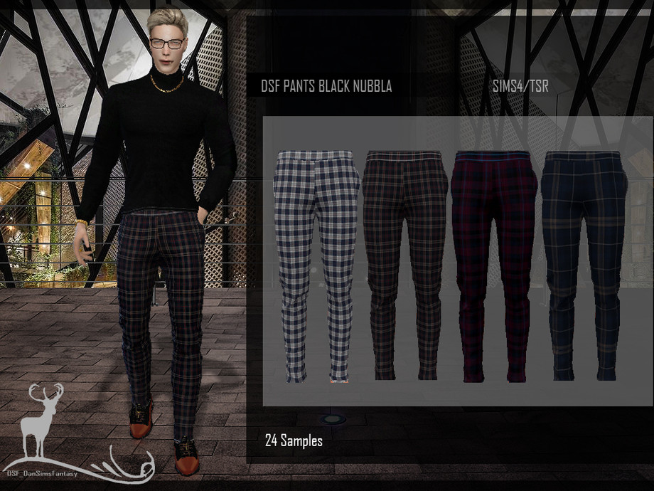 DSF PANTS BLACK NUBBLA by DanSimsFantasy