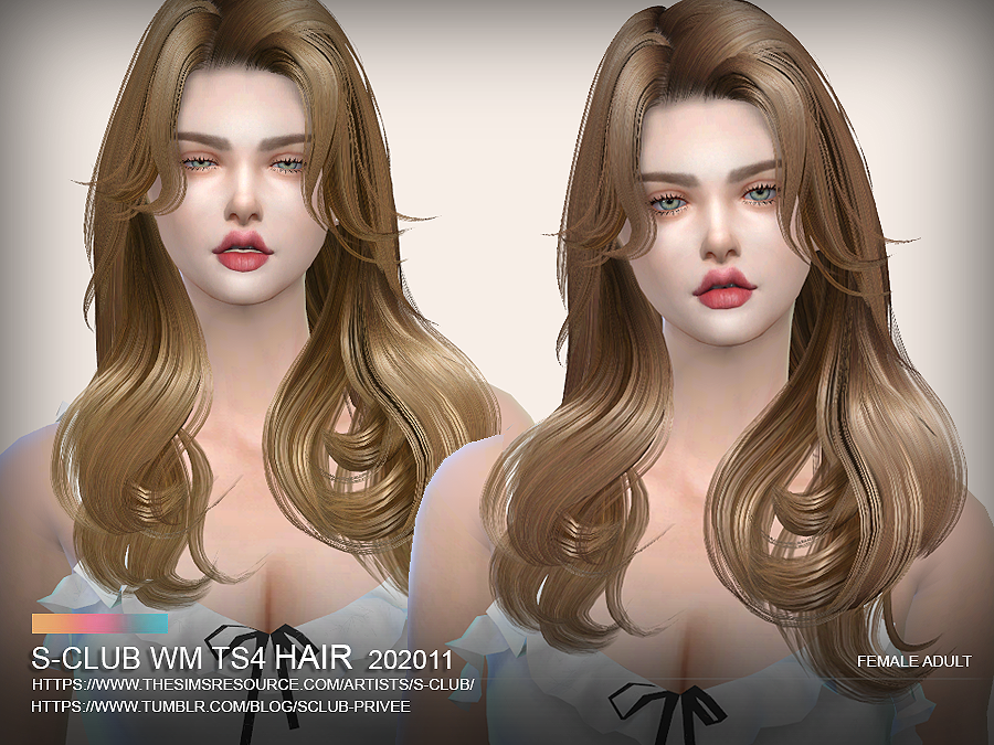 S-Club ts4 WM Hair 202011