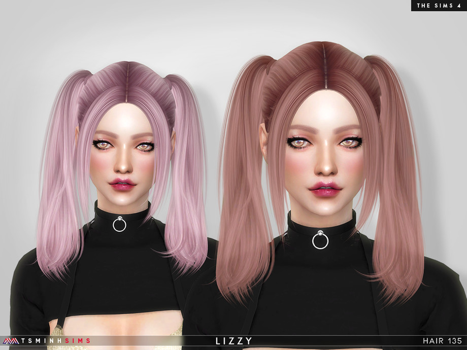 Lizzy ( Hair 135 ) by TsminhSims