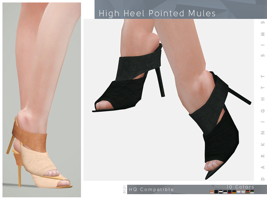 High Heel Pointed Mules by DarkNighTt