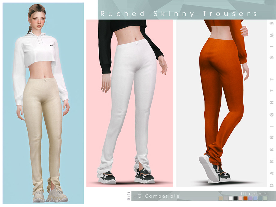 Ruched Skinny Trousers by DarkNighTt
