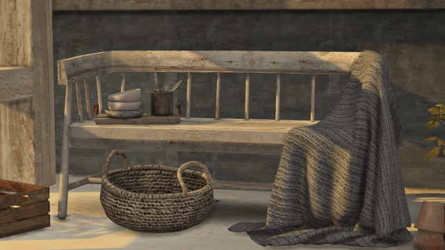 Rustic bench by pinkbox-anye