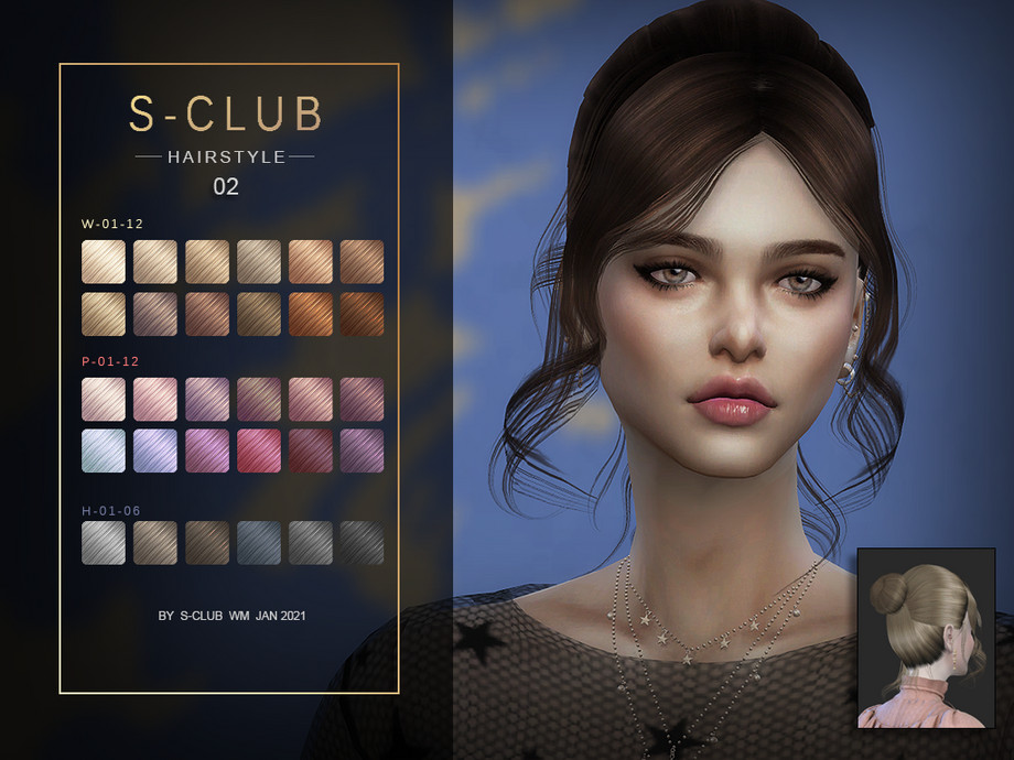 S-Club ts4 WM Hair 202102