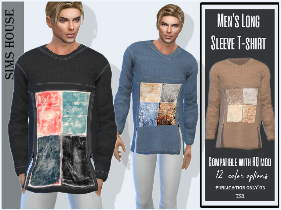Men's Long Sleeve T-shirt by Sims House
