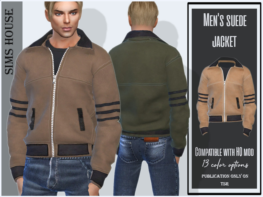 Men's suede jacket by Sims House