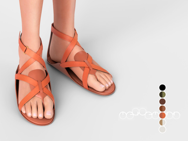 HERMS AURA SANDALS by mauvemorn
