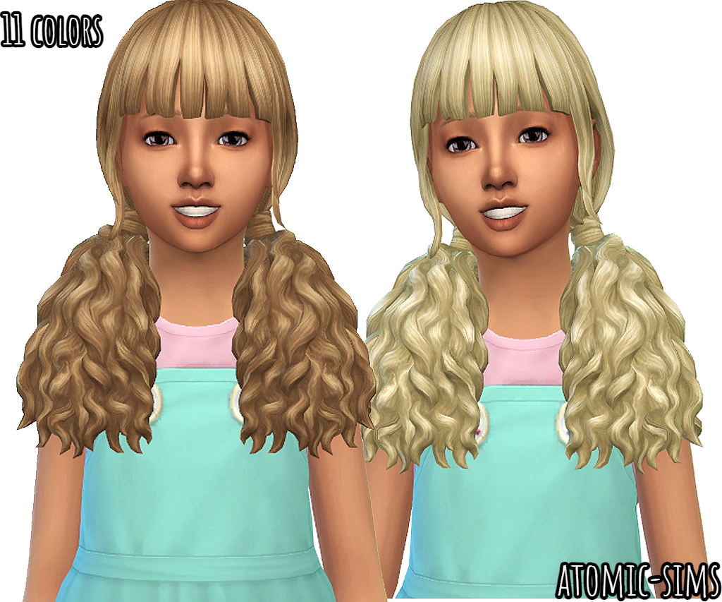 My stuff origin Brittany hair recolor for girls by Atomic-sims
