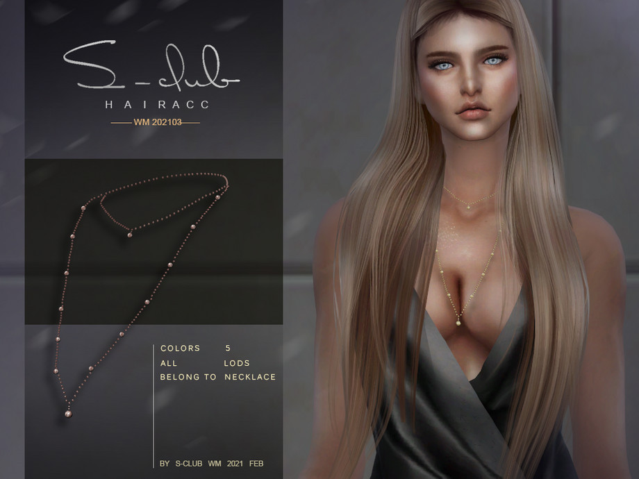 S-Club ts4 WM Necklace 202103