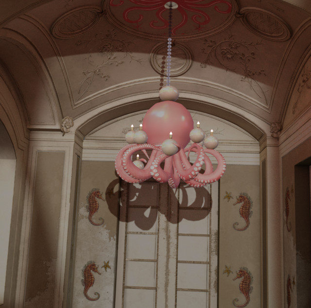 Octopus Ceiling Light by hydrangeachainsaw