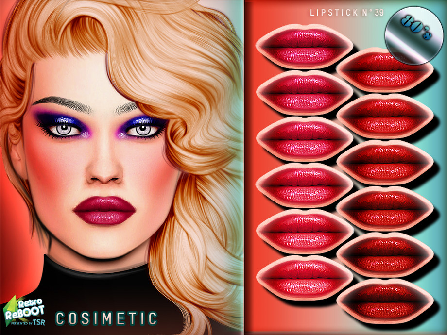 80's Lipstick N39 by Cosimetic