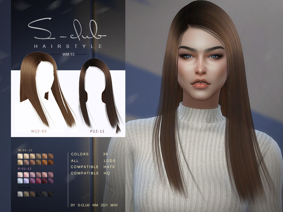S-Club ts4 WM Hair 202113