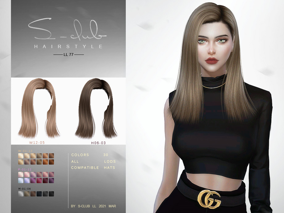 ts4_hair_n77_Fay by S-Club