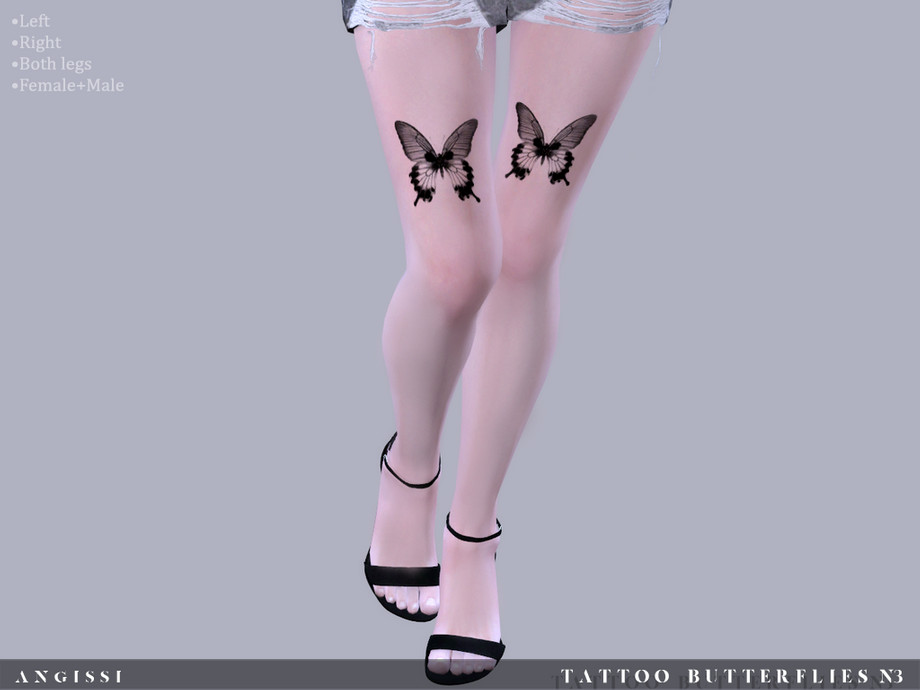 Tattoo-Butterflies n3 by ANGISSI
