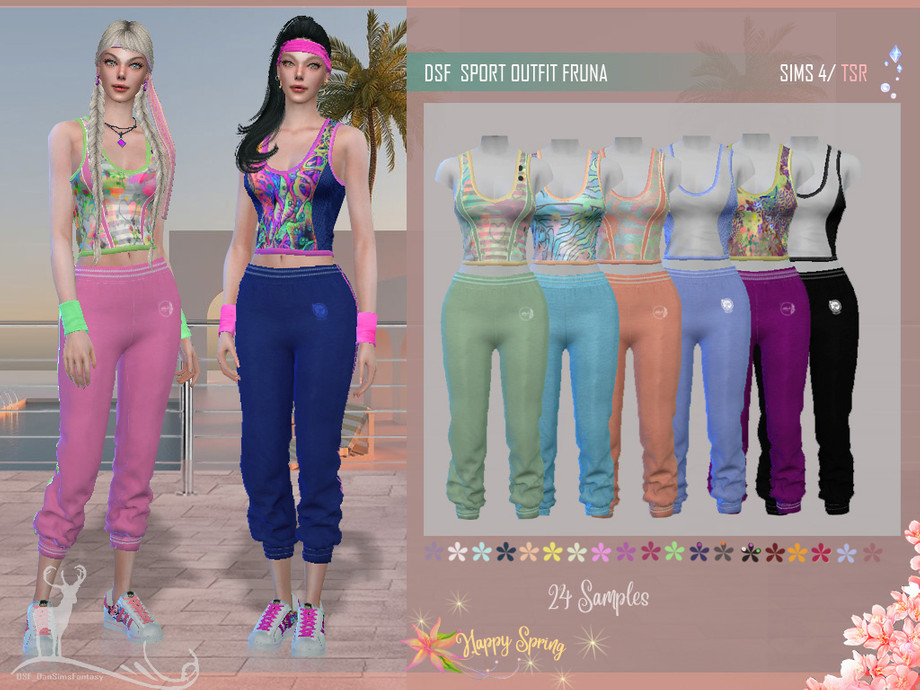 DSF SPORT OUTFIT FRUNA by DanSimsFantasy