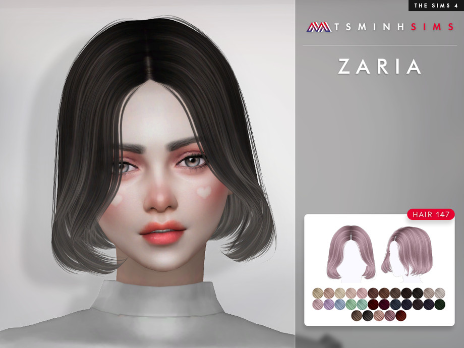 Zaria ( Hair 147 ) by TsminhSims