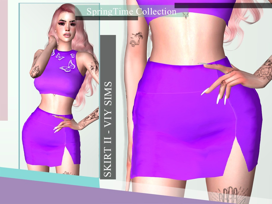 SpringTime Collection - Skirt II by Viy Sims