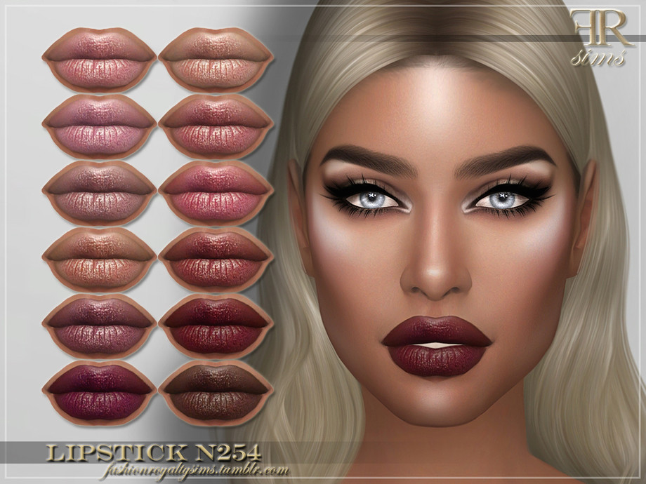 FRS Lipstick N254 by FashionRoyaltySims